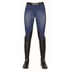 Pantalon HKM Summer Denim genoux femme